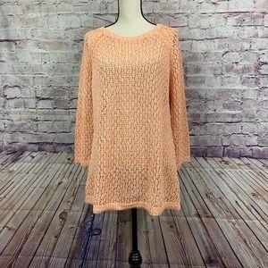Relativity Open Knit Tunic Sweater